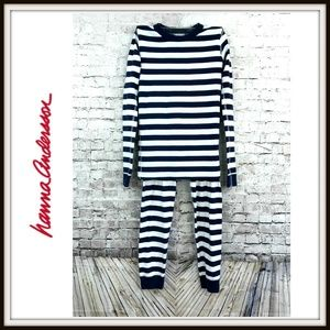 Hanna Andersson Striped Pajamas Set Top Pants